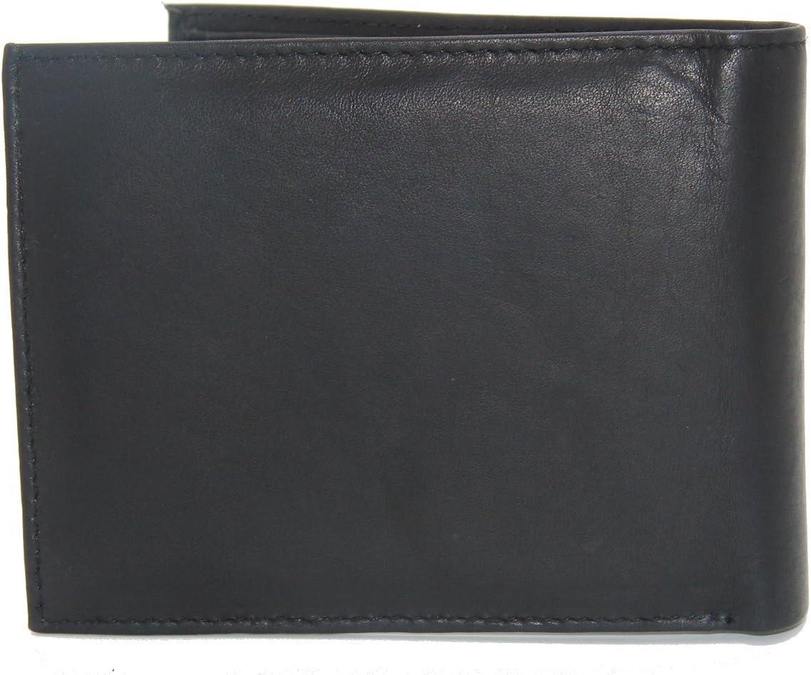 My Wallet collection premium de Dargelis Porte-monnaie chic en cuir v/éritable Noir Format oblong