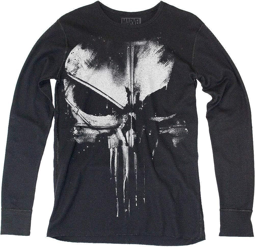 Impact Merchandising Distressed Long Sleeve Thermal Shirt - Punisher Themed