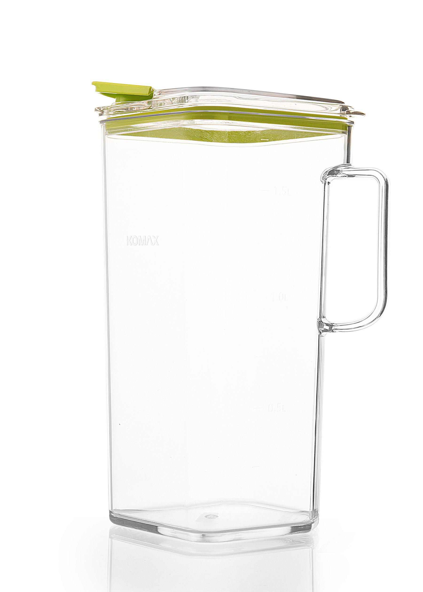 Komax Tritan Clear Large (2 quart) Pitcher With Green Lid BPA-Free - Great for Iced tea & Water