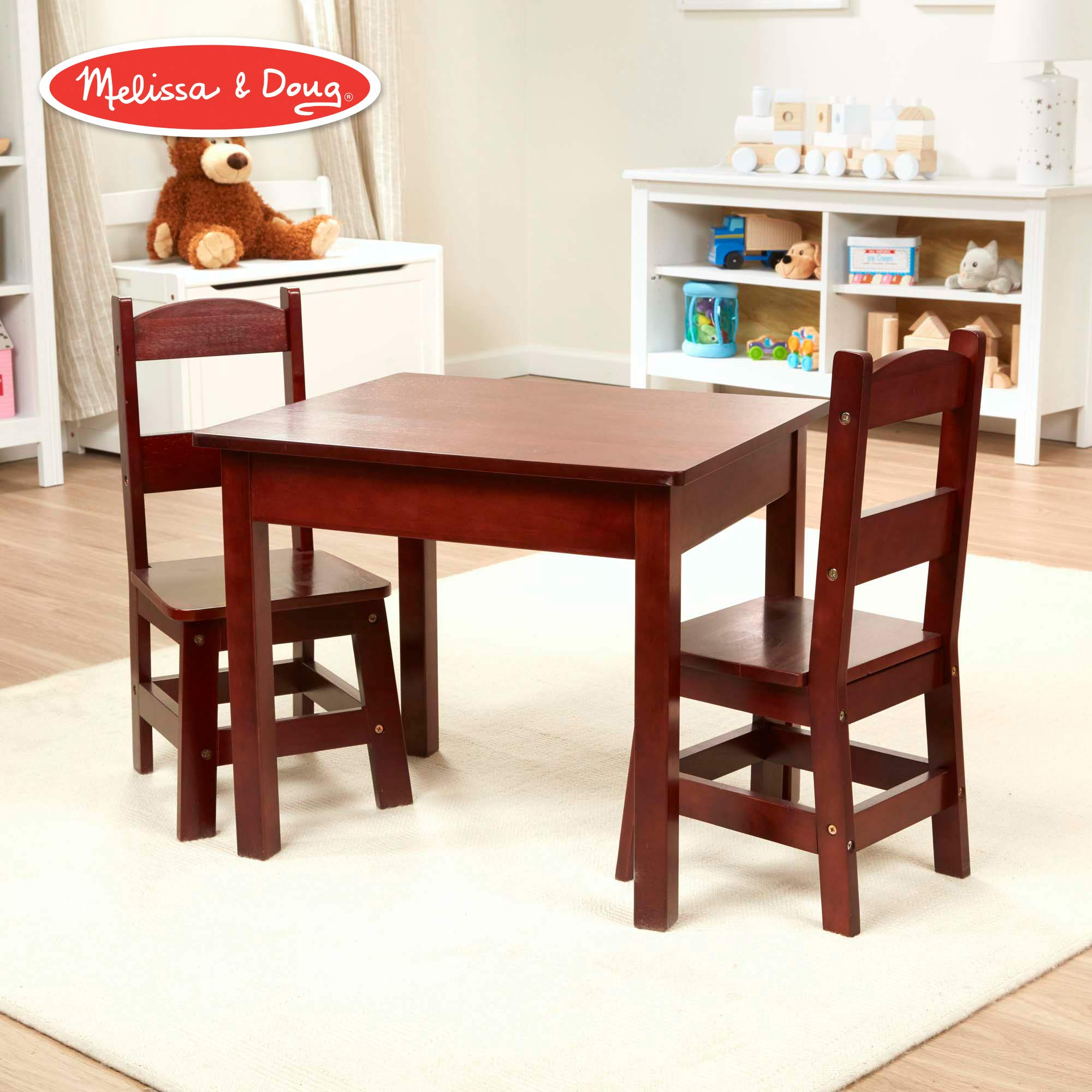 Melissa & Doug Wooden Table and Chairs Set  - Espresso by Melissa & Doug