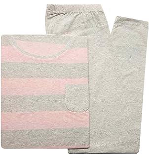 8d279770c0 Tchibo TCM Schlafanzug mit Leggings Pyjama Biobaumwolle Viskose Blau ...