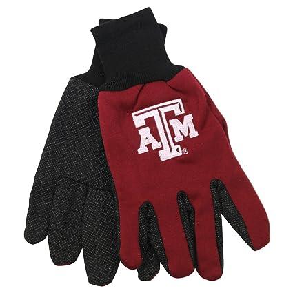 Amazon.com: NCAA Escuela logotipo Grip Guantes – Texas A & M ...