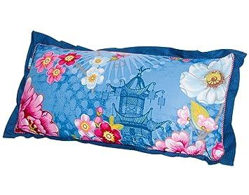 Pip Bettwäsche Chinoise Blau Kissen Gefüllt Einzeln 30x60 Cm