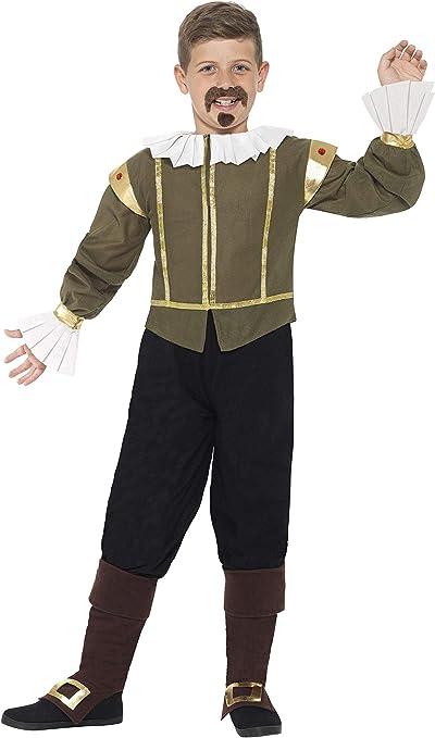 Smiffys-44077L Disfraz de Shakespeare, Chaqueta, pantalón, Fundas ...