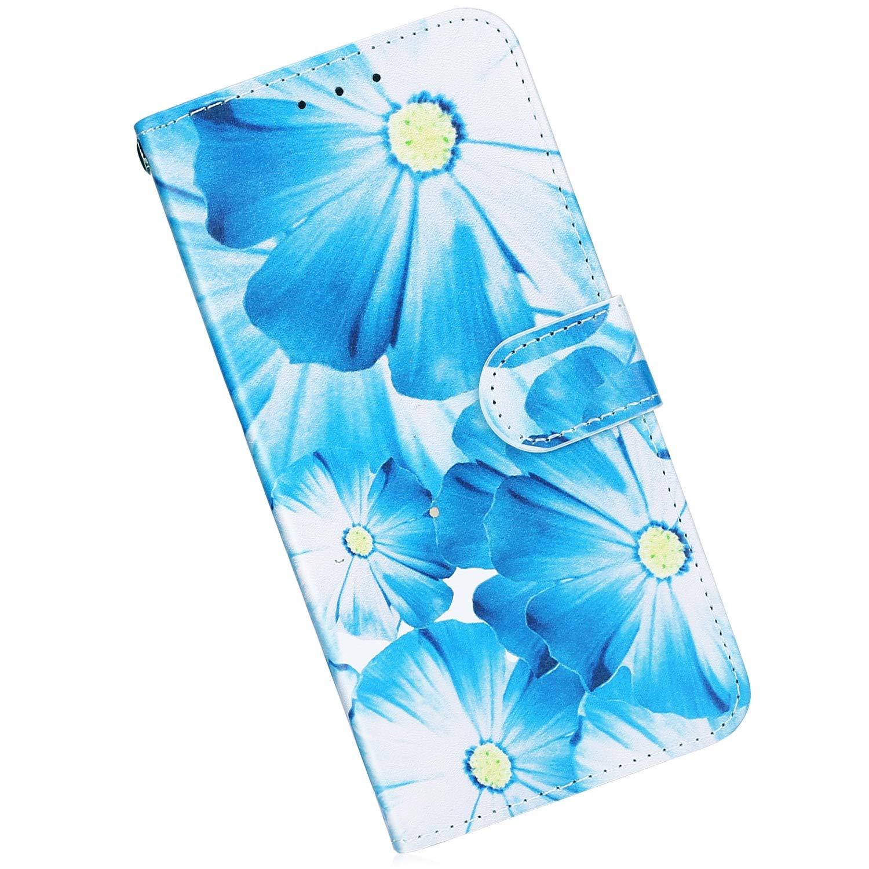 Qjuegad Kompatibel mit Handyh/ülle Samsung Galaxy A50 Leder H/ülle Marmor Muster Ledertasche Flip Wallet Cover Case Brieftasche Etui Schutzh/ülle Handytasche mit Kartenfach Magnetisch,Wei/ßer Marmor