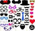 Syga Photo Booth Party Props Craft Item, Multi Colour (36 Pieces)