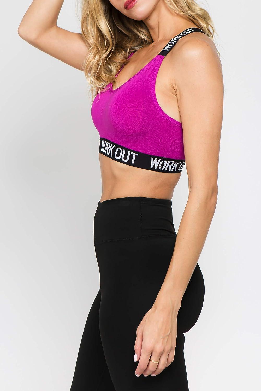 Womens Workout Bras Sports Running Strappy Crop Top