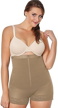 b0789a0913618 Body Shaper for Women Fajas Colombianas - Women Plus Shaper Thermal High  Panty Beige