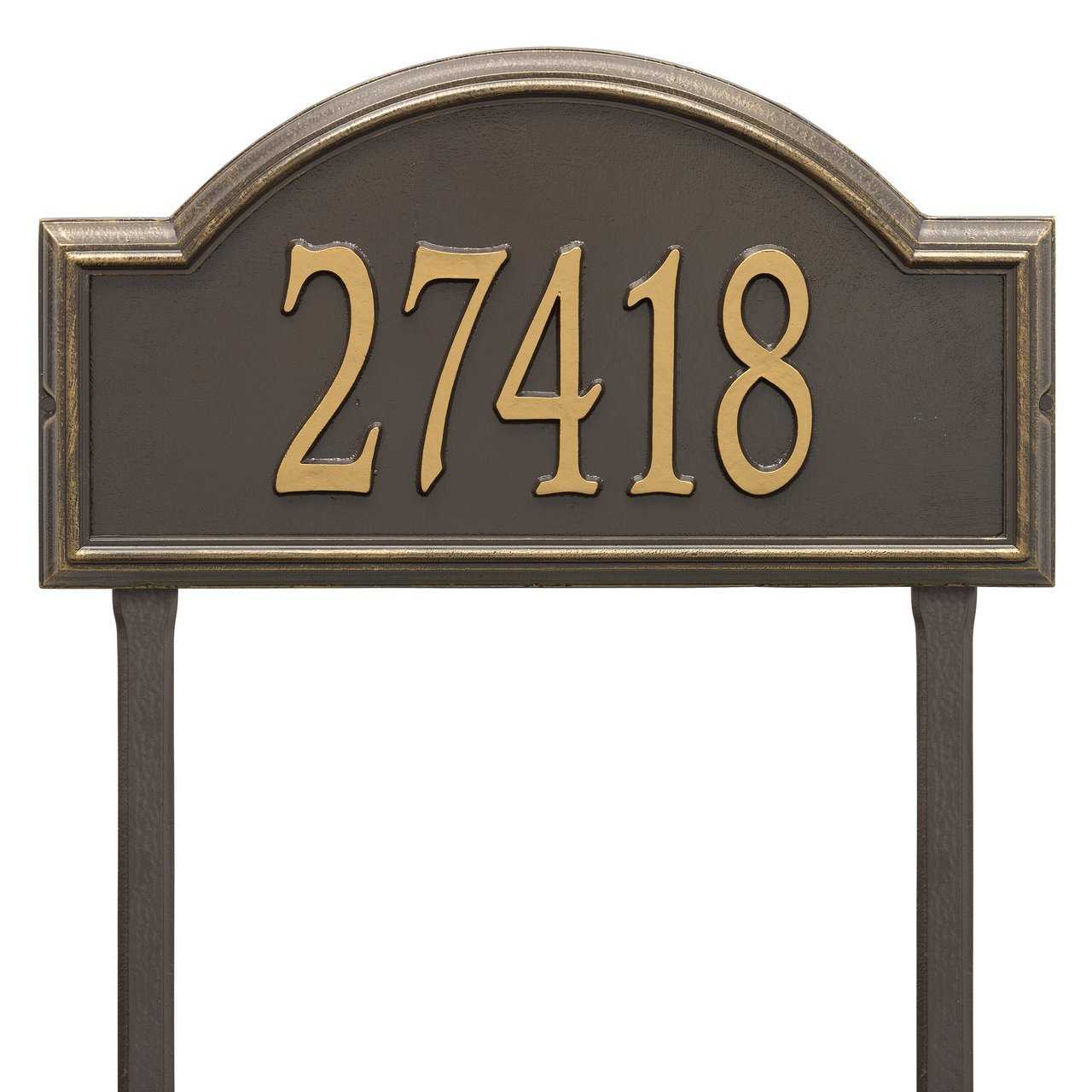 Custom Providence Arch Estate LAWN Address Plaque 1 Line 23''W x 12''H