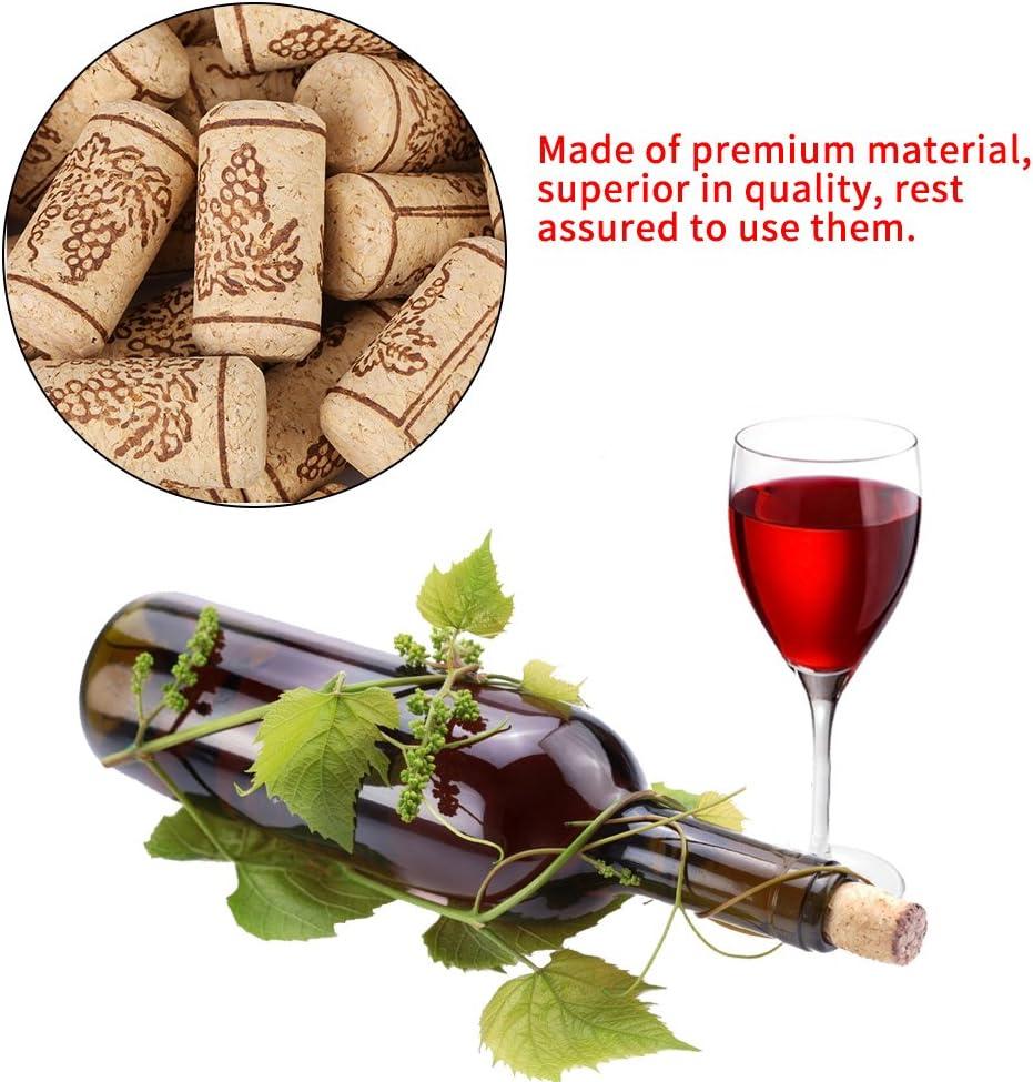 100PCS 22 44mm Bouchons en li/ège naturels pour Les Enfants Bouchon en Li/ège Naturel pour Bouteille de Vin Maison D/éco Loisir Bricolage Broco Bouchons /à vin pour d/écorer
