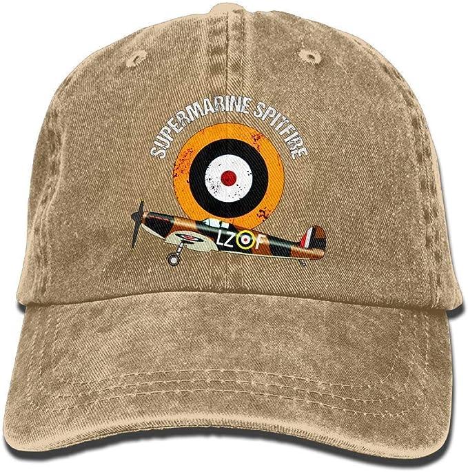 itruty Supermarine Spitfire RAF Warbird Adjustable Baseball Gorra ...