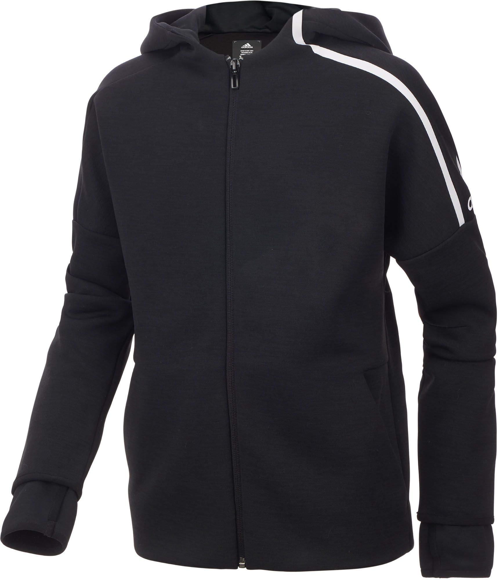 adidas Boy's ZNE Jacket (Black, X-Small) by adidas (Image #1)