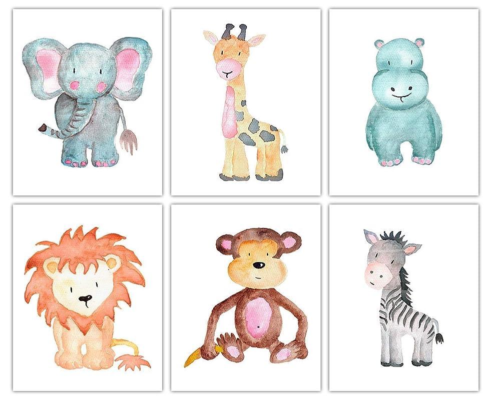Jungle Theme Wall Art Baby Room Decor Realistic Safari Animals Decor by KIU Designs Safari Decor Jungle Nursery Decor Wall Art Prints Set of 6 Art Prints of 8x10 Inch Jungle Nursery Decor