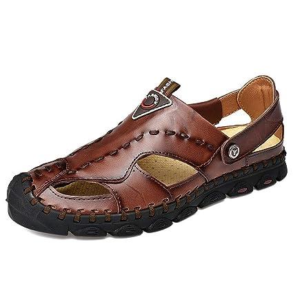 Amazon Com Mellow Shop Leather Sandals Men Summer Shoes