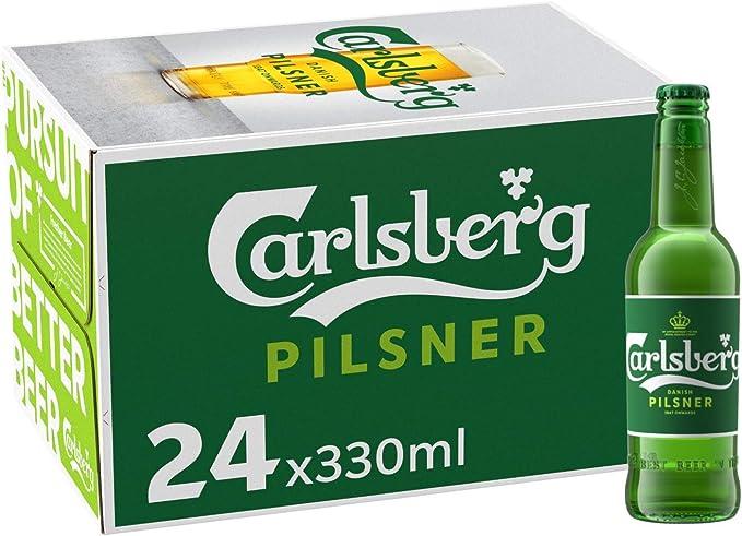 Cerveza Importada Premium Carlsberg 24 botellas de 330ml c u