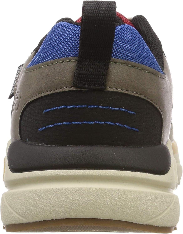 Skechers Verrado Brogen, Baskets Basses Homme Multicolore Blue Red Black Brbk