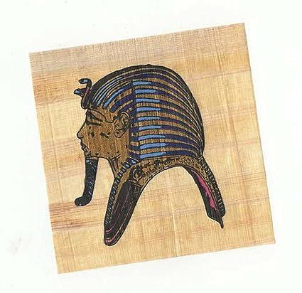 Real egipcio Papyrus con color Faraón máscara ideal para enmarcar, Crafts etc
