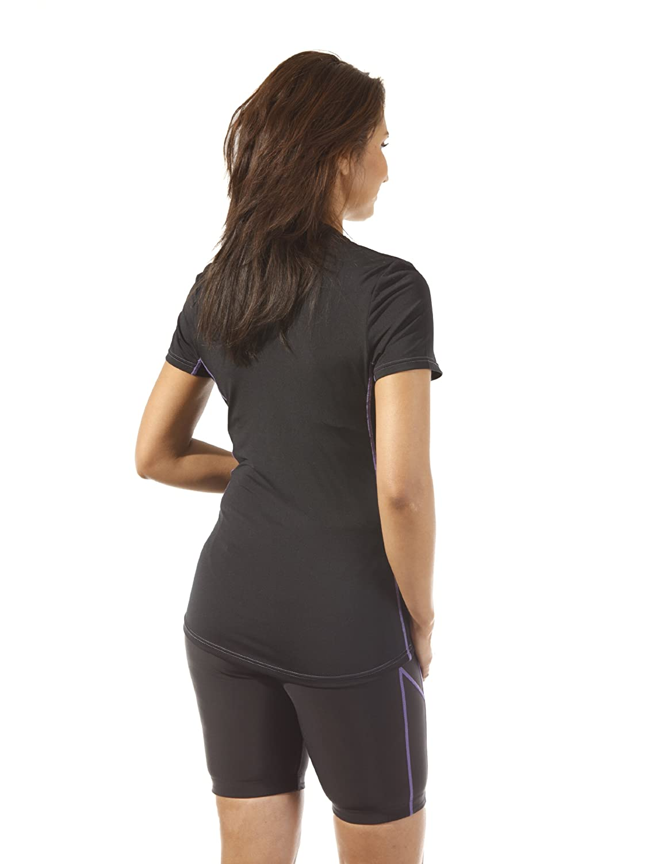 Ultrasport T-Shirt de Marche avec Option s/échage Rapide pour Femme Noir Black