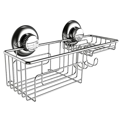 amazon gecko loc shower bo caddy w suction cups stainless 61 Bel Air image unavailable image not available for