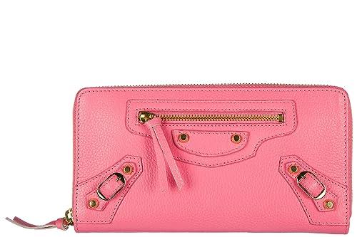 Cartera Monedero Piel Mujer Bifold Rosa Zip Balenciaga Y Zapatos Complementos Amazon Nuevo De es Around En 5d1Wq