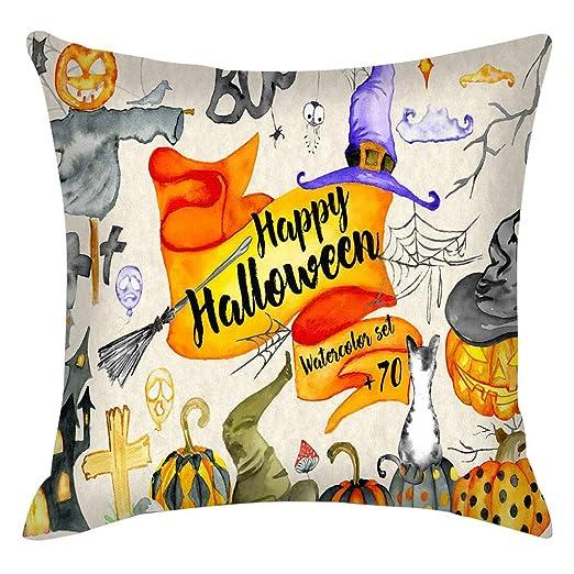 Fundas de cojín de Halloween cuadradas de Lino para sofás o ...