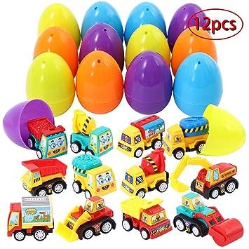 Twister.CK Juguetes de Huevos de Pascua, 12 Piezas con Mini ...