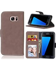 BONROY Samsung Galaxy S7 Case, Premium PU Leather Wallet Case Protective Cover for Samsung Galaxy S7