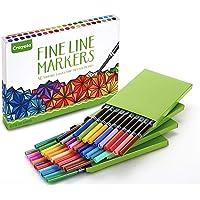 Crayola Fine Line marcadores, 40unidades, varios colores, colorear para adultos