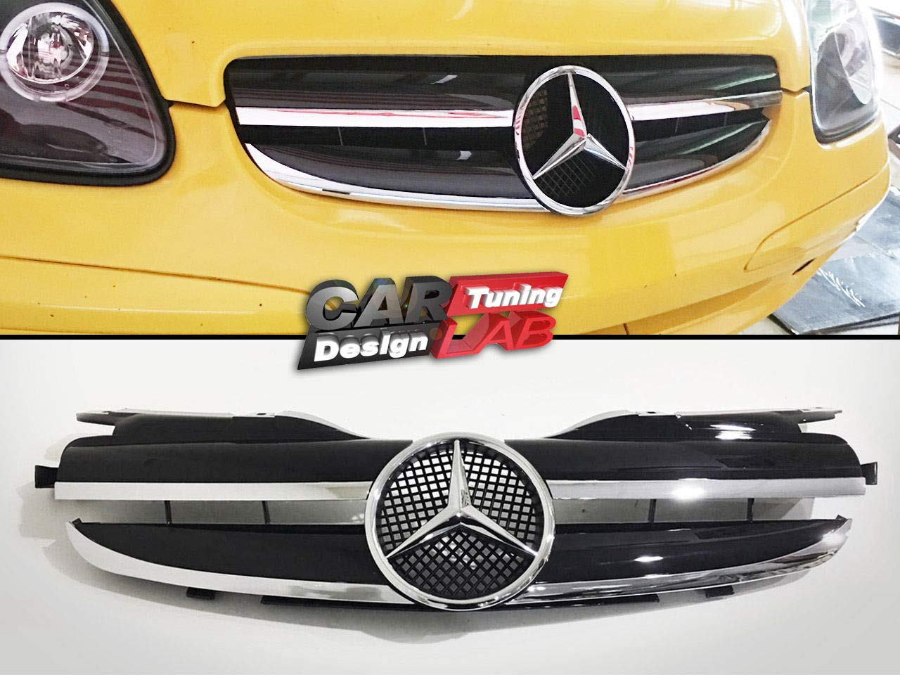 CarLab (1) Front Grille Grill 2 FIN (1 FIN LOOK) For 97~04 R170 SLK 230 320