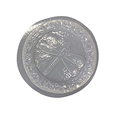 Dragonfly Leaf Border Stepping Stone Concrete or Plaster Mold 1267: Home & Kitchen