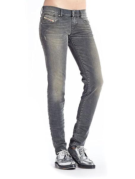 422bde1b Diesel Womens Stretch Jeans Getlegg 0607Z Slim Skinny Grey Used Look (23/32)
