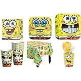 Spongebob Squarepants Party Supplies Standard Kit for 16 *Free Gift*