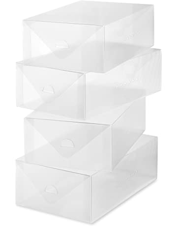 e0dab97711ce Whittmor Clear Vue Shoe Box - Heavy Duty Stackable Shoe Storage