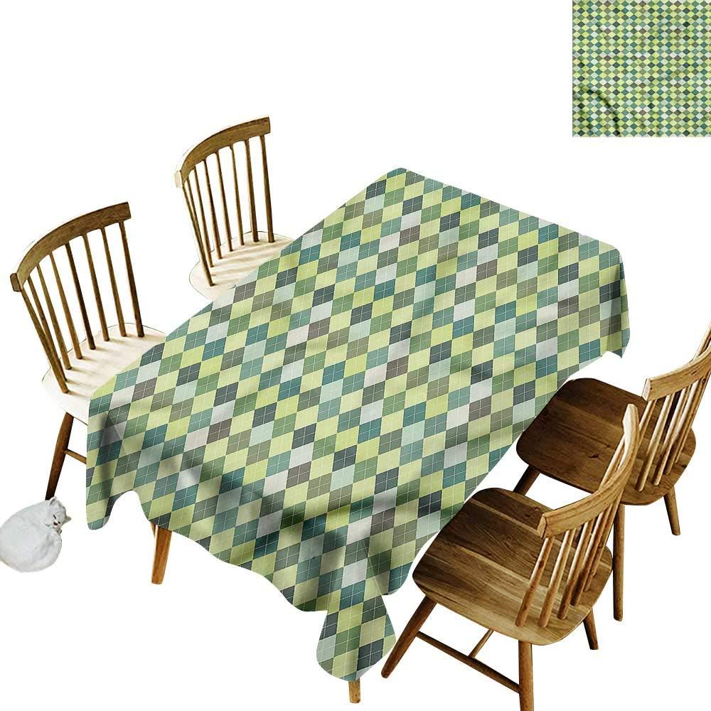 Amazon Com Tim1beve Washable Tablecloth Plaid Traditional Argyle