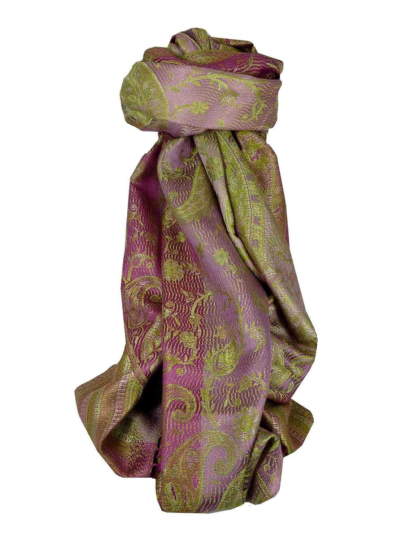 Jamawar Premium Silk Stole Pattern 3505 by Pashmina & Silk 635292376528