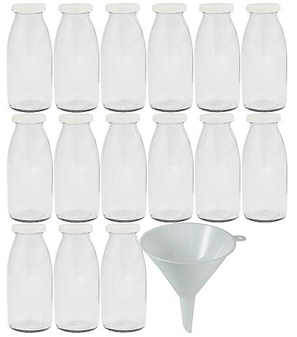 Viva-artículos de Uso doméstico - 15 Botellas pequeñas/Botellas 250 ML con tapón