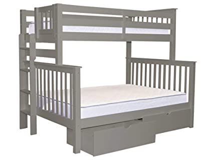 Amazoncom Bedz King Bunk Beds Twin Over Full Mission Style With