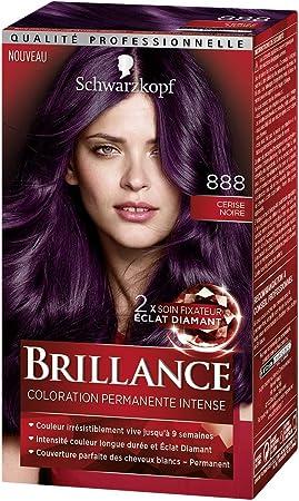 Schwarzkopf Brillance – Coloración permanente – Eclat de noche – cereza negra 888