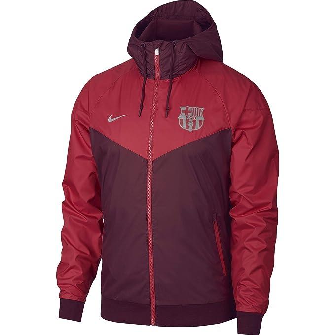 37c1ac1e17f40 Nike 2018-2019 Barcelona Authentic Windrunner Jacket (Deep Maroon ...