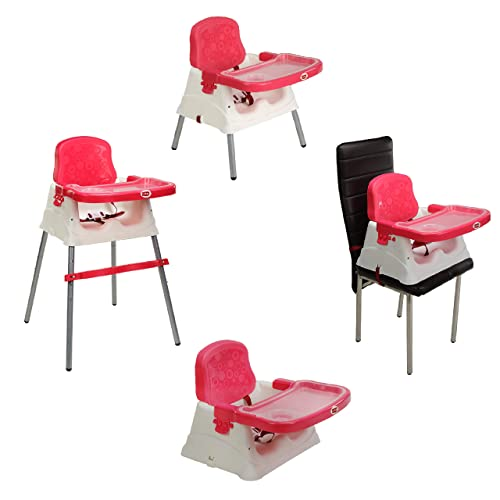 6.<br />Roll over image to zoom in LuvLap 4 in 1 Convertible High Chair Cum Booster Seat (Pink)
