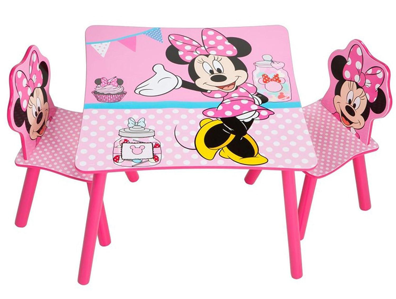 PEGANE Ensemble Table et 2 chaises pour Enfant Motif Disney Minnie