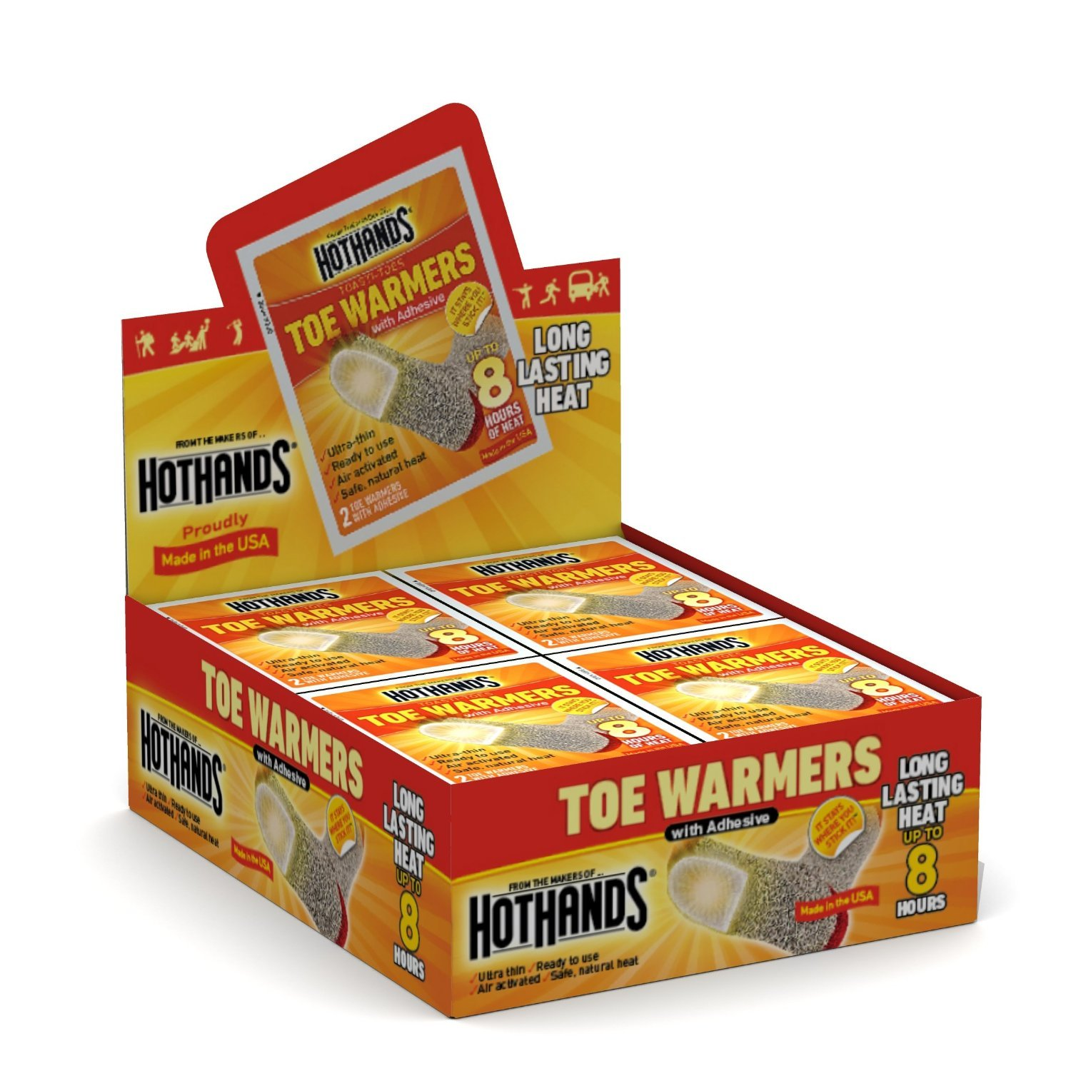 HotHands Toe Warmers (Brand New 2015 Stock) 80 Pair Mega Pack by HotHands (Image #1)