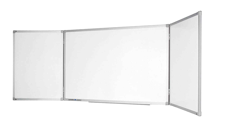 lackierte Whiteboardoberfl/äche 100 x 150 300 cm Legamaster 7-100263 Economy Klapptafel
