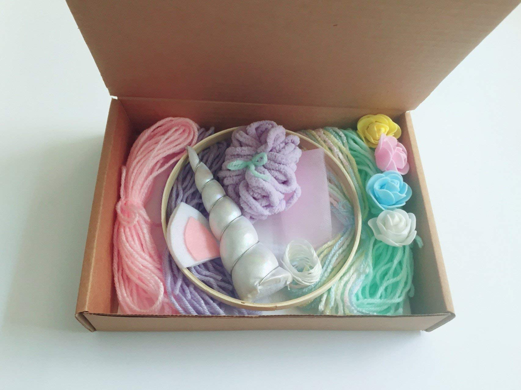 Full Size Make Your Own Unicorn Dream Catcher Kit Kids Craft Gifts for girls 6