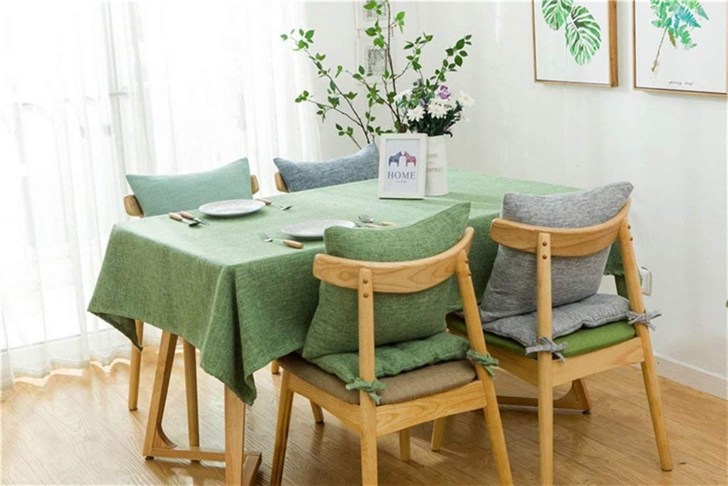 CQSMOO Tovaglia Biancheria da Cucina Asciugamano Lino Rettangolare Tinta Unita Tavolino da Pranzo Tavolo da Cucina Balcone Tessuto da Cucina Pastorale Americana in Cotone by