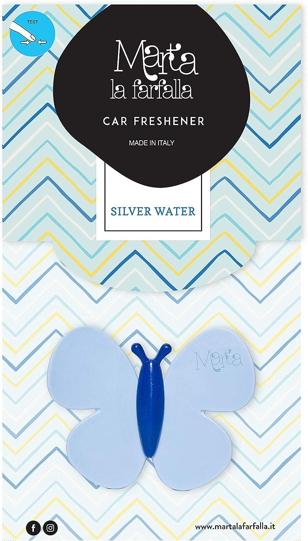 Lufterfrischer Zum Einstecken In Die Lufteinlässe Fragranz Silver Water 3 Stück Marta La Farfalla Auto