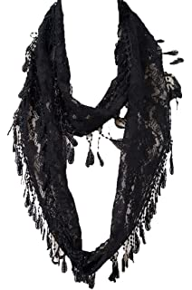 Elegant Extra Long Lace Scarf With Fringe Summer At Fashion Scarf Multi Color