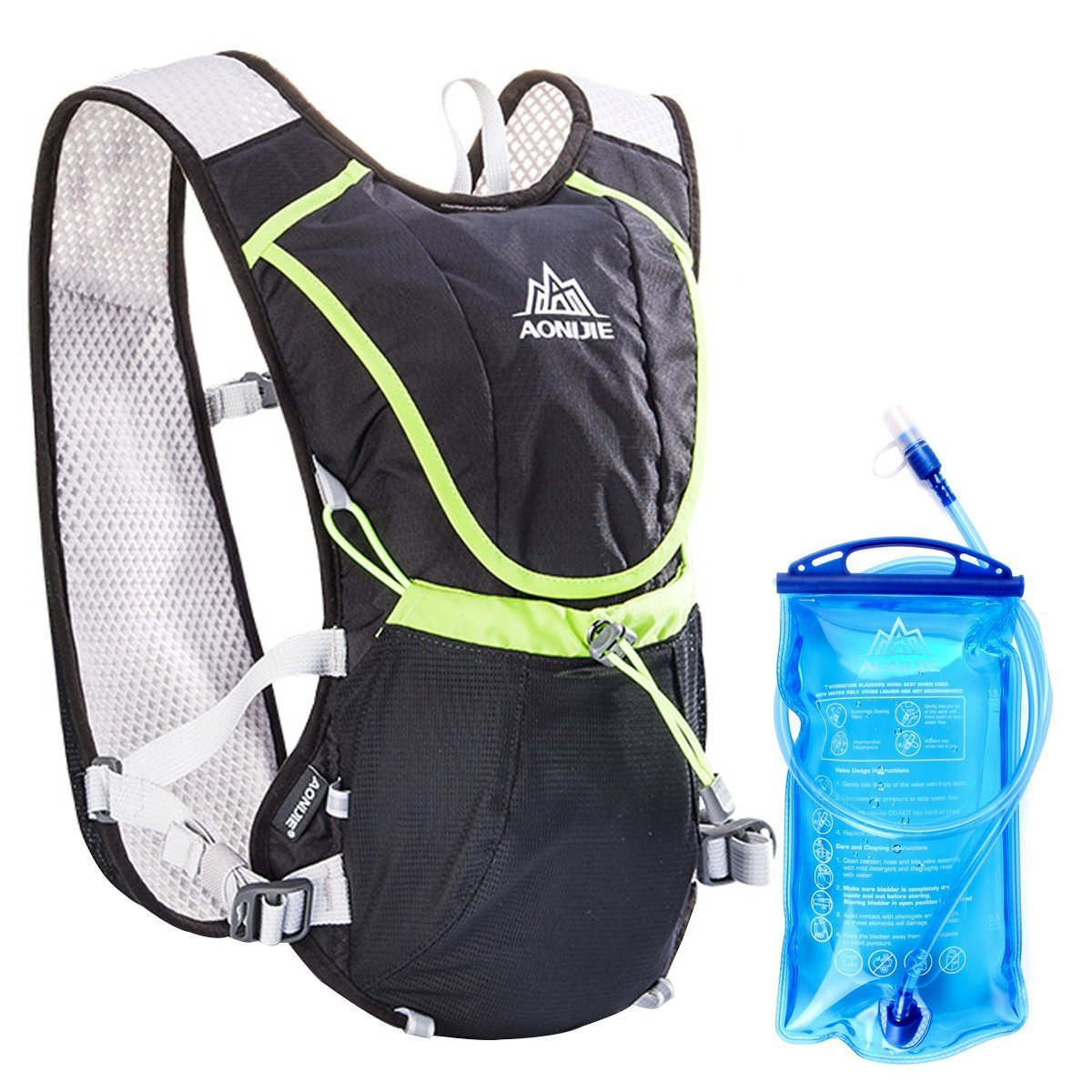Geila Aire Libre Trail la Competencia de Marat/ón la Hidrataci/ón del Chaleco//Mochila con 1 Sin-BPA Agua de Vejiga