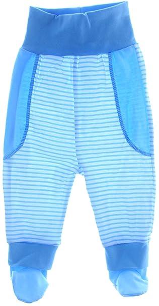 2193d05bc7 Baby Hose mit Füßchen Schlupfhose geringelt 56 62 68 74 blau Hosen (56)