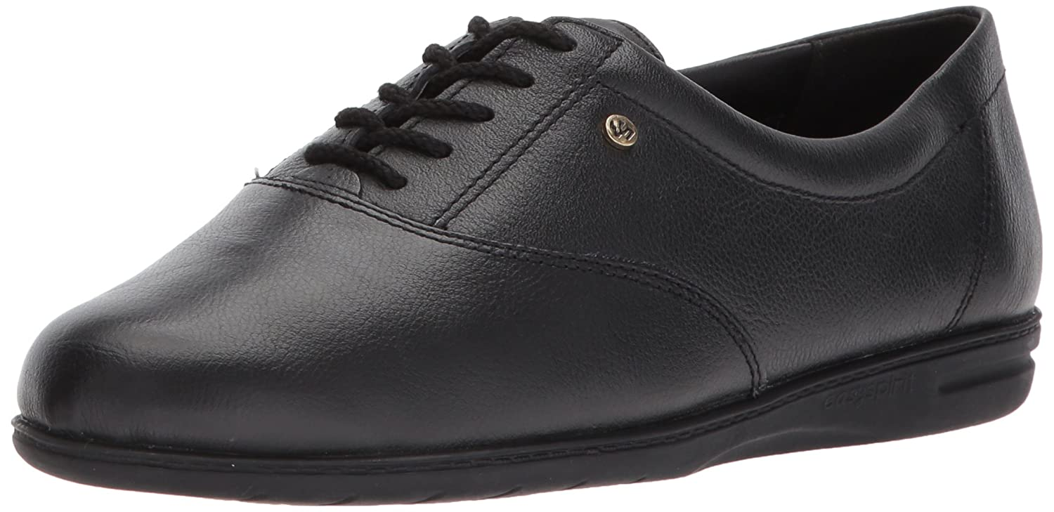 Black Leather Easy Spirit Women's Motion Sport Lace-Up Sneaker
